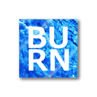BUSSANのYOROZUYAのBURNステッカー Stickers