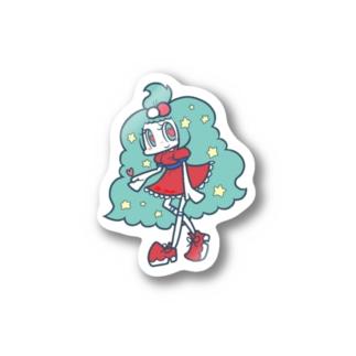 ハートの女の子 Stickers