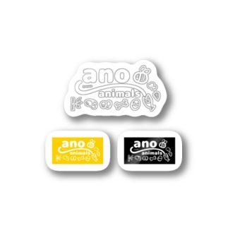 ano animals ロゴシール(白) Stickers