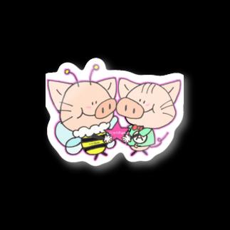 にゃりぶぅと仲間たちのにゃりぶぅ仲良し Stickers