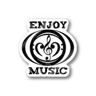 enjoy music ステッカー