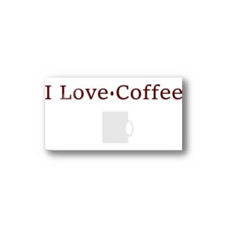 I Love Coffee Stickers