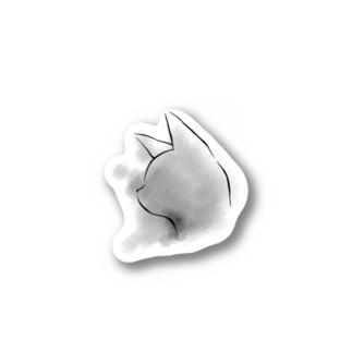 灰猫 Stickers