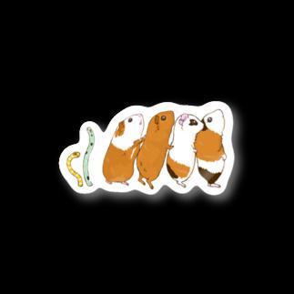n555のチンアナゴとチンアナゴモルモット Stickers