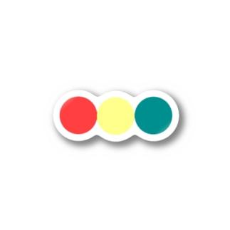 信号色のまんまる Stickers