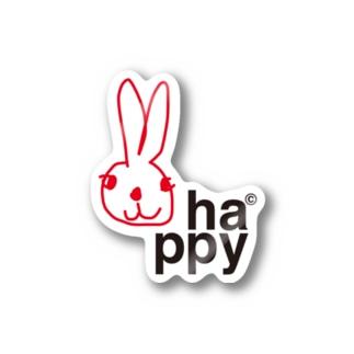 ha*ppy うさぎ Stickers