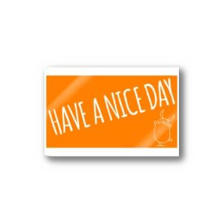 PIGGIE-PIGGY / HAVE A NICE DAY (orange) Stickers