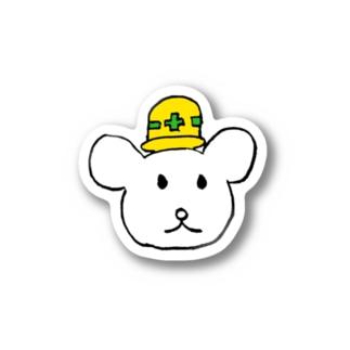 安全クマー Stickers