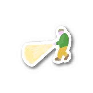 懐中電灯の人 Stickers