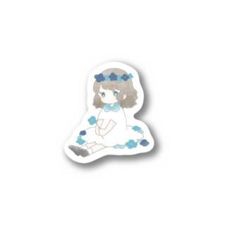 あお Stickers