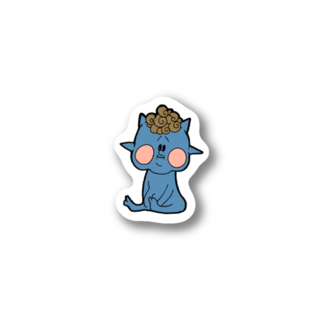 異星人生活日誌。の青小鬼 Stickers