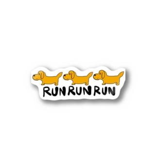RUN RUN RUN Stickers