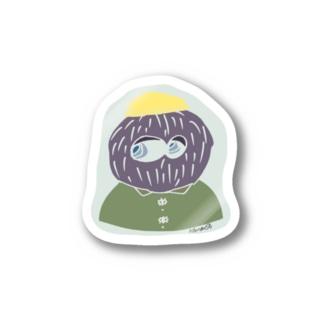 hair ball man Stickers