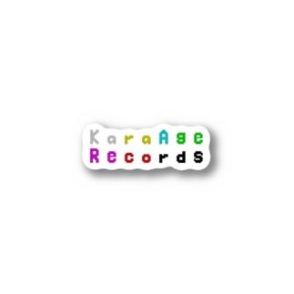 KaraAgeRecords-からあげレコーズ Stickers