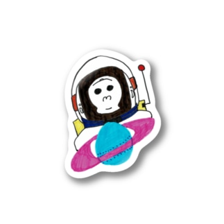 SpaceGorilla-スペイスゴリラ Stickers