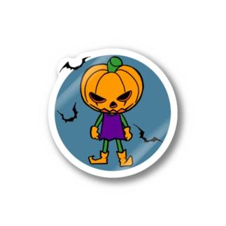 ハロウィンかぼちゃボーイ ステッカー