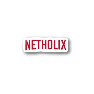 NETHOLIX(ネット中毒 赤 Stickers