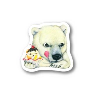 シロクマ×かき氷② Stickers