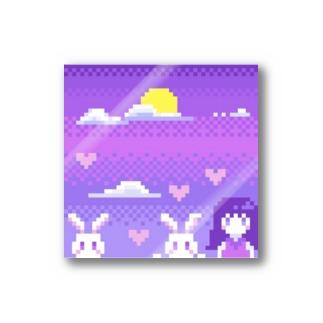 月とうさぎ Stickers
