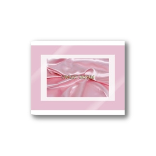SWEET ROOM pink satin  Stickers