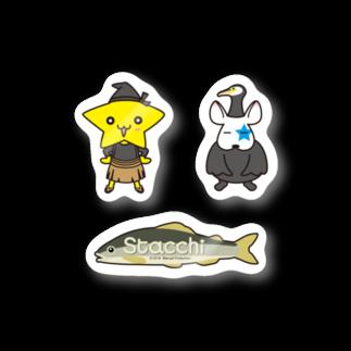 株式会社マニュアルプロダクションのStacchi 星野さん&ブル 鵜飼セット Stickers