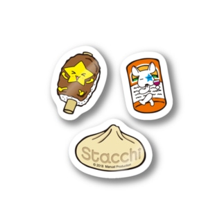 Stacchi 星野さん&ブル 岐阜の名産品 Stickers