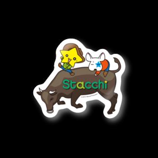 株式会社マニュアルプロダクションのStacchi 星野さん&ブル 飛騨牛ロデオ Stickers