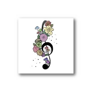 音符にきのことお花を生やしてみました Stickers