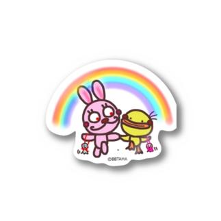 うさぴよ💛雨上がり Stickers
