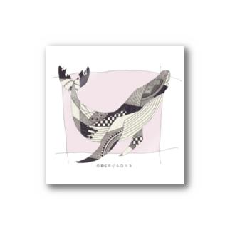 くじらステッカー -pink- Stickers