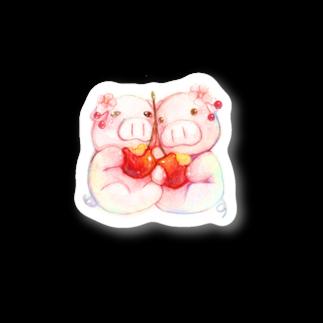 P-PiGのもぐぶーさくらんぼ Stickers