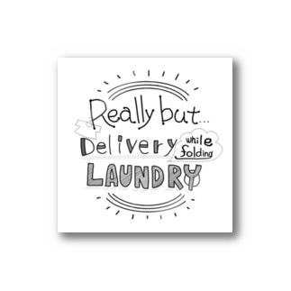 でもほんとは洗濯物を畳みながら配信(英語) ステッカー