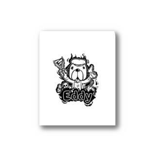 エディ ドッグ Stickers