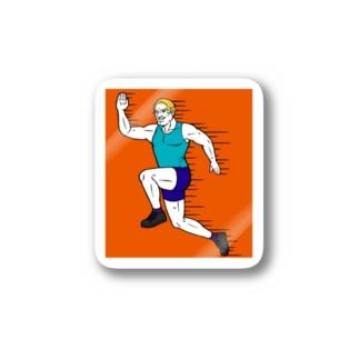 スポーツの秋だよマイケゥ Stickers