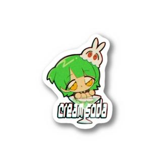 【nate&ぢのコラボ】cream soda Stickers