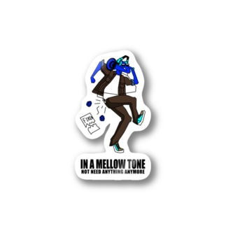 IN A MELLOW TONE -blue- Stickers