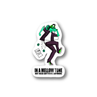 IN A MELLOW TONE -green- Stickers
