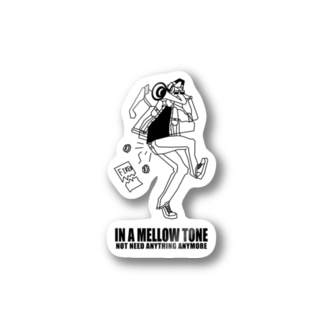 IN A MELLOW TONE -black- Stickers