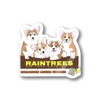 Raintrees corgis Stickers