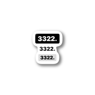 3322.3322.3322 Stickers