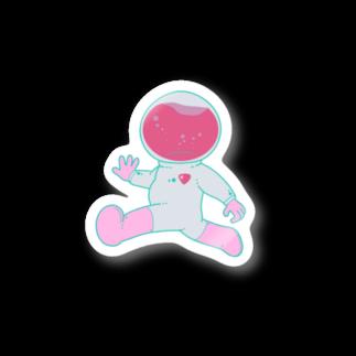 ノダアカネの宇宙飛行士くん Stickers