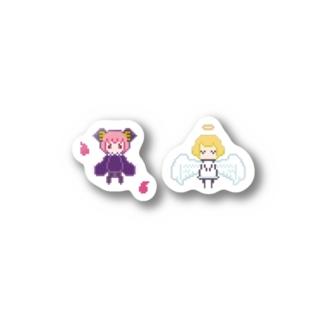 悪魔と天使 ステッカー