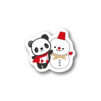 冬のパンダ Stickers