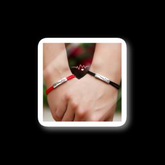 人気クリスマスプレゼント特集2018。彼氏・旦那様、彼女・妻・奥さんへのお揃いものの赤い糸・黒い糸 ペアブレスレット刻印 人気 ペア ブレスレット シルバー メンズ ブレスレット 彼氏 彼女 誕生日 磁石 Stickers