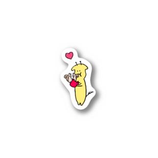 キリンとリスとリンゴ Stickers