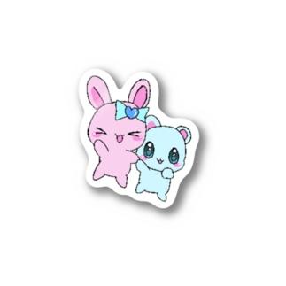 女児みシール:なかよち! Stickers
