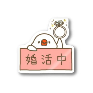 婚活中の白文鳥さん Stickers