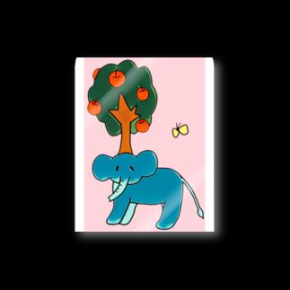 はるこの画伯ショップの生えちゃったゾウ Stickers