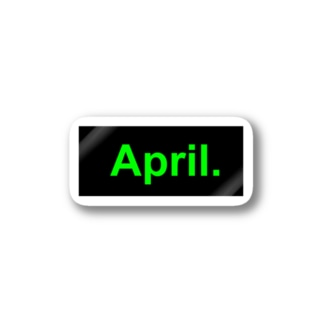 April.BOX LOGO(グリーン×ブラック) Stickers
