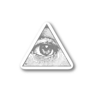 Illuminati eye triangle (gry) Stickers